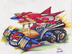 暑期畫班(二):天地雙龍戰車